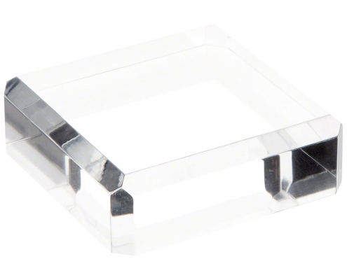 Clear Polished Acrylic Square Display Base-1