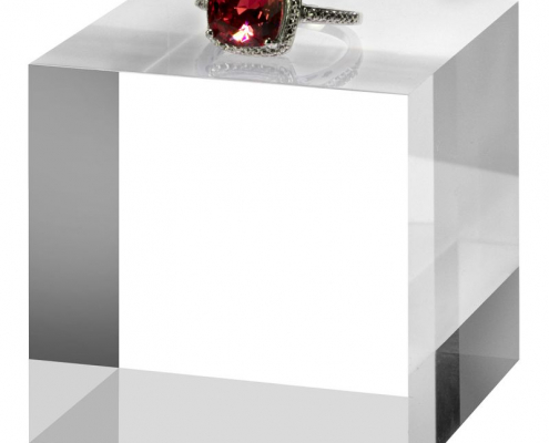 Clear Crystal Acrylic Solid Display Block For Jewelry-3