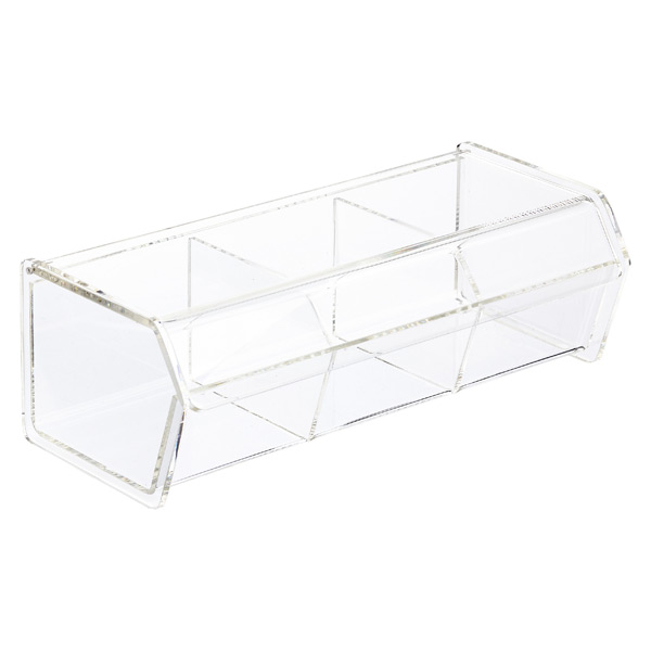 3 Section Acrylic Box With Hinged Lid
