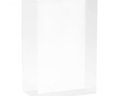 Clear Rectangule Lucite Solid Display Block-1