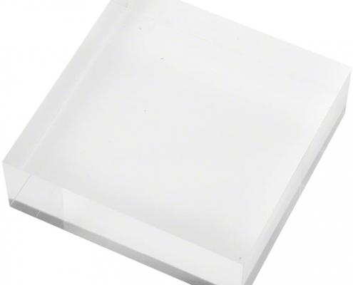 Clear Square Plexiglass Polished Display Block-1