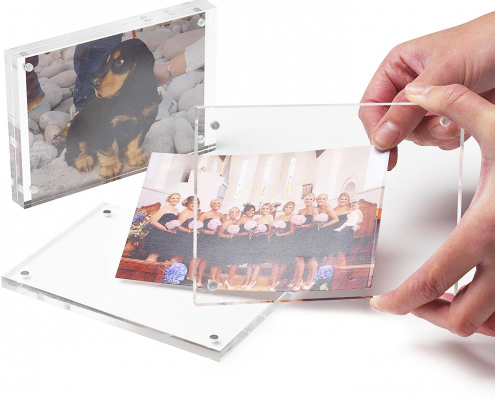 "Rectangule Acrylic Magnetic Picture Frame - 4"" × 6""-2"