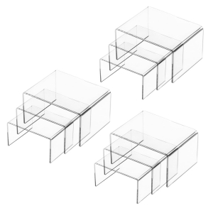 Clear Acrylic Display Risers For Jewelry & Perfume