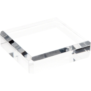 Clear Polished Acrylic Square Display Base