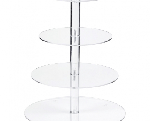 Round Acrylic Cake Tower Display Stands-1