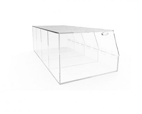 "4 Compartments Large Plexiglass Organizer Bin - 24"" × 12"" × 8""-2"