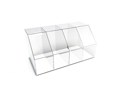 Large Clear Acrylic Candy Bin With Hinge and Lid-1