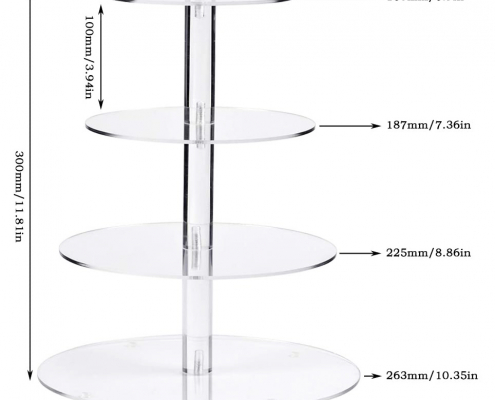 Round Acrylic Cake Tower Display Stands-5