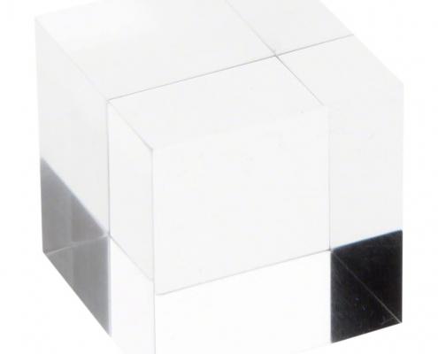 Clear Square Plexiglass Polished Display Block-2