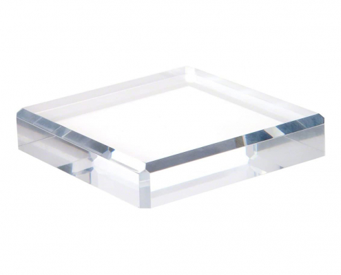 Clear Polished Acrylic Square Display Base-2