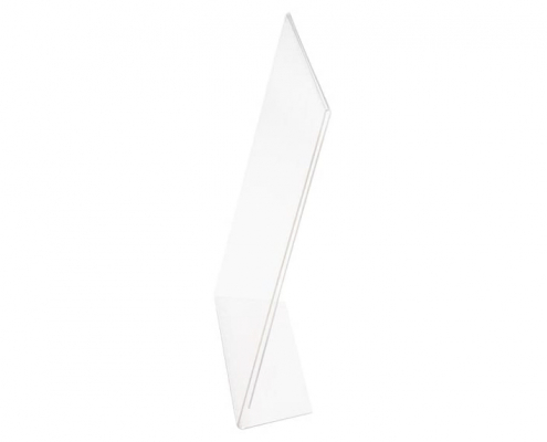 Acrylic Slant Back Sign Holder For Tabletop-3