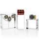 Clear Crystal Acrylic Solid Display Block For Jewelry