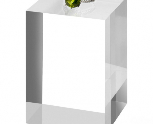 Clear Crystal Acrylic Solid Display Block For Jewelry-1