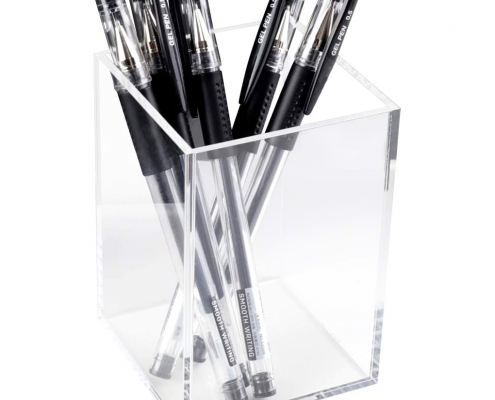 Clear Acrylic Desktop Pencil & Pen Cup