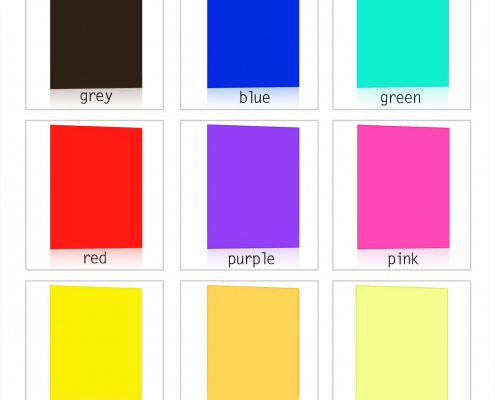 Transparent Colored Acrylic Sheets-color