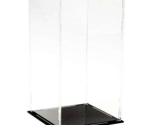 Clear Acrylic Assembled Rectangular Countertop Display Case-1