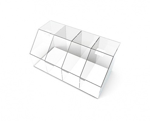 Large Clear Acrylic Candy Bin With Hinge and Lid