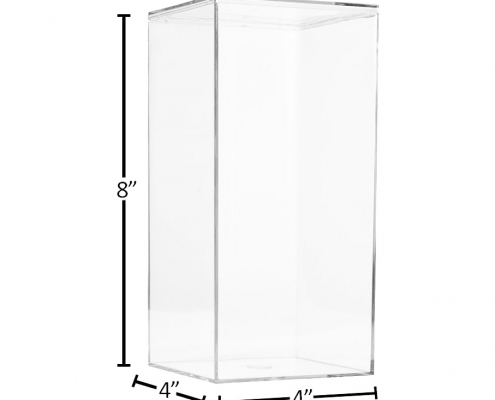 "Lucite Organizer Boxes for Gifts - 4"" × 4"" × 8""-size"