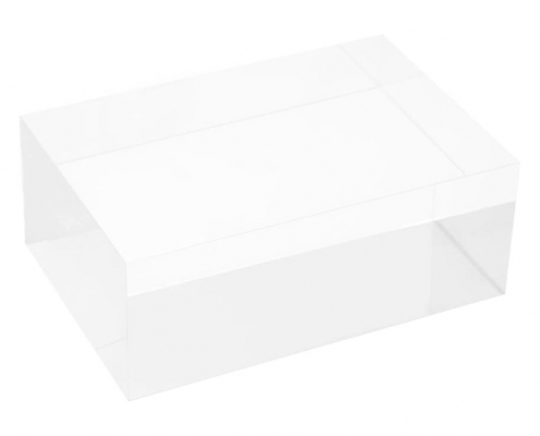 Clear Rectangule Lucite Solid Display Block-2