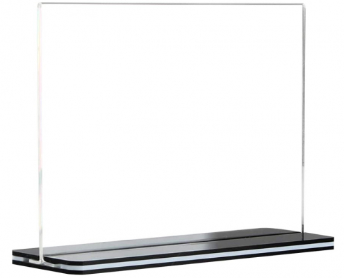 Stores Acrylic Sign Holder Menu Display Stand With Black Base-1