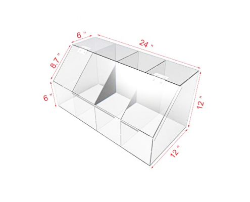 Large Clear Acrylic Candy Bin With Hinge and Lid-2