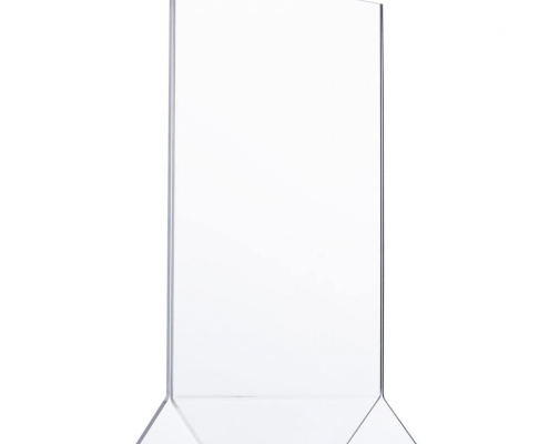 "Clear PMMA Table Menu Stand - 5"" × 7"""