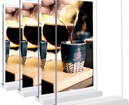 Double-Sided Acrylic Sign Holder For Stores-1