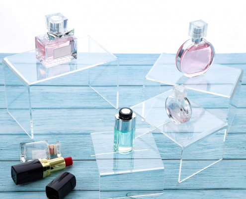 Clear Acrylic Display Risers For Jewelry & Perfume-2
