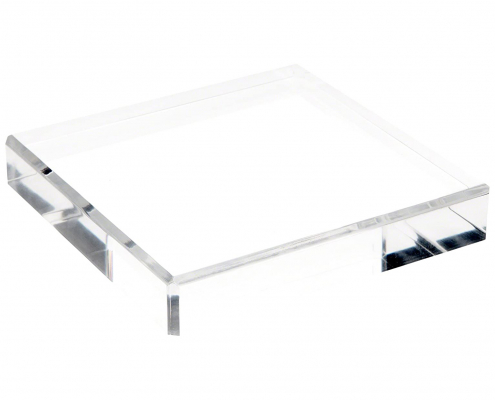 Clear Polished Acrylic Square Display Base-3