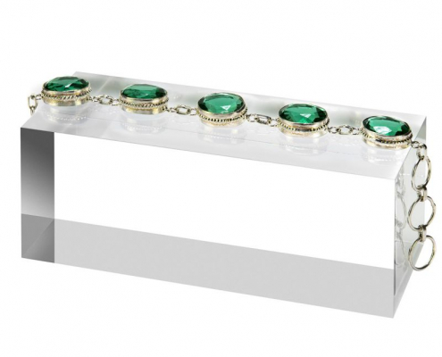 Solid Clear Acrylic Block For Bracelet & Watch-5