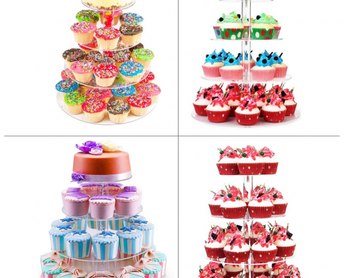 Round Acrylic Cake Tower Display Stands-6