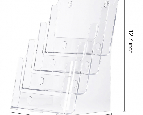 Acrylic Brochure Holder Stand For Wall Mount Or Countertop-3