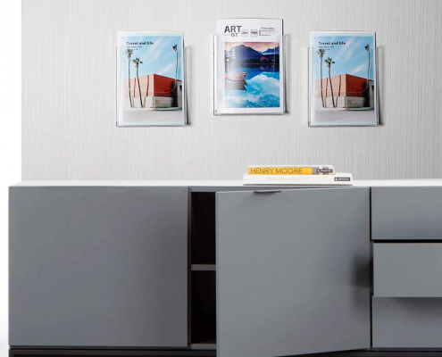 Clear Acrylic Flyer & Literature Holder For Wall-2