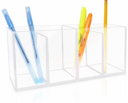 4 Compartment Clear Acrylic Organizer-1