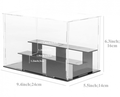 "3 Tier Acrylic Countertop Display Case - 9.4""× 5.5"" × 6.3""-size"