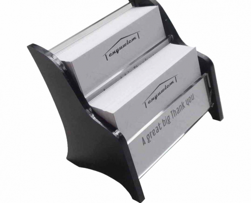 2 Tier Acrylic Business Card Holder For Office Counter-1