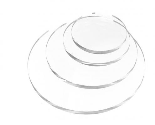 Round Shaped Clear Acrylic Blocks-2