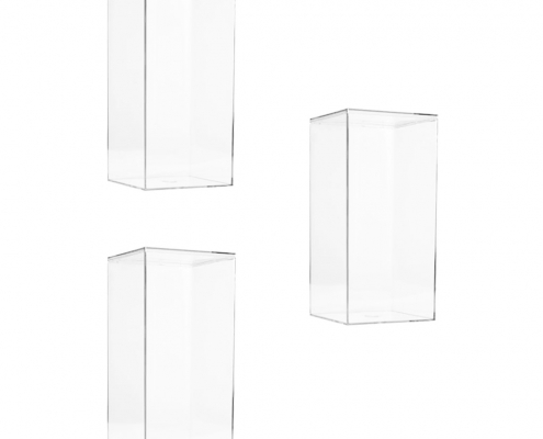 "Lucite Organizer Boxes for Gifts - 4"" × 4"" × 8""-2"