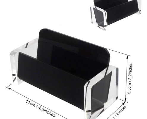 Acrylic Desktop Business Card Holder For Office-size