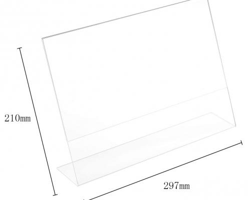 Acrylic Slanted Menu Display Stand-3