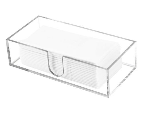 Acrylic Cocktail Napkin Dispenser With U Shaped Slot