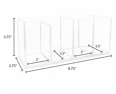 4 Compartment Clear Acrylic Organizer-2
