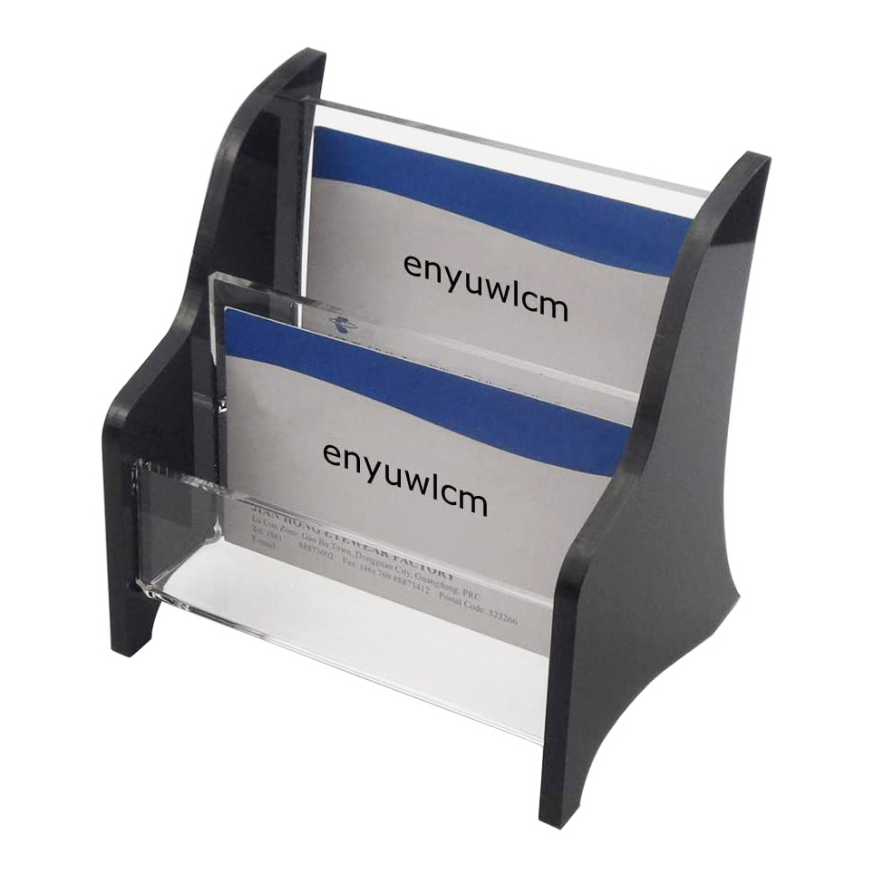 2 Tier Acrylic Business Card Holder For Office Counter