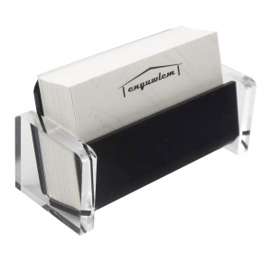 Acrylic Desktop Business Card Holder For Office