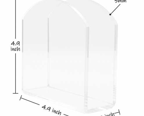 "Acrylic Paper Napkin Holder For Restaurant - 4.9"" × 4.9"" × 2""-size"