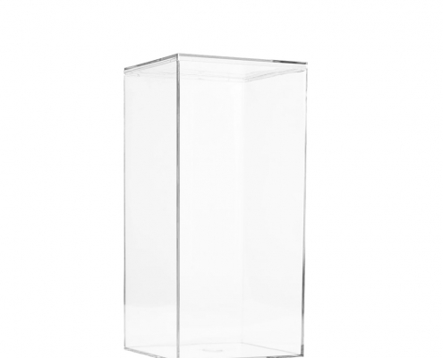 "Lucite Organizer Boxes for Gifts - 4"" × 4"" × 8"""