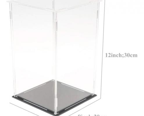 Clear Acrylic Assembled Rectangular Countertop Display Case-3