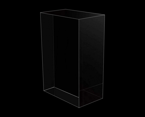 Clear Rectangule Lucite Solid Display Block-3