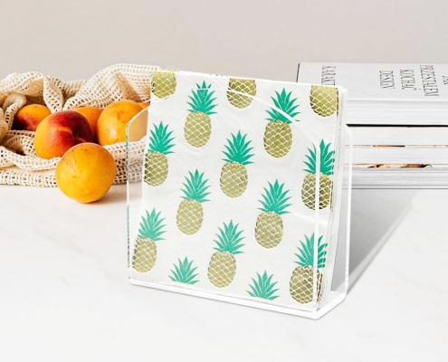 """Acrylic Paper Napkin Holder For Restaurant - 4.9"""" × 4.9"""" × 2""""-4"""