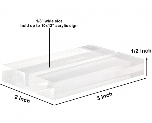 Clear Acrylic Base Stand For Cards-size